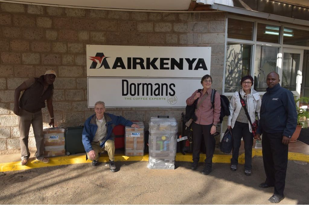 March 8th, 2018: arrival at Kenya airport