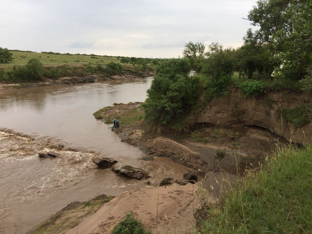 The raw water source - Mara River at Massai Mara Nationalpark, Kenya